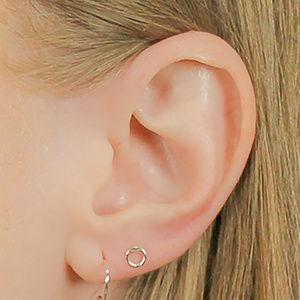 Sterling Silver Mini Circle Stud Earrings